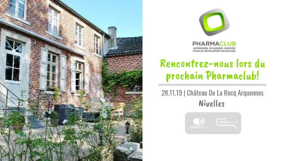 Prochain RV formation: le 28/11 à Nivelles avec le Pharmaclub
