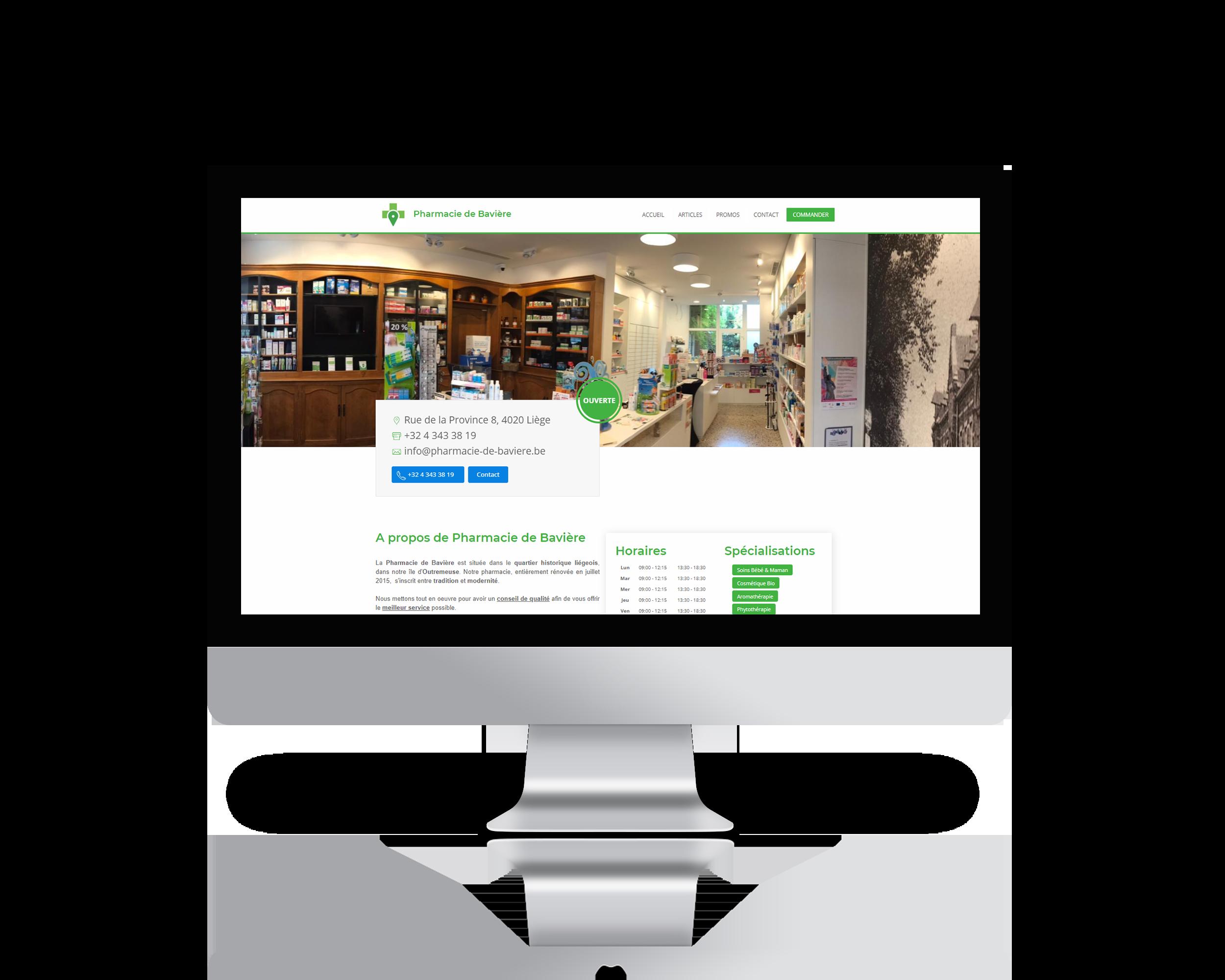 design représentant les services marketing fournis par COMPharma à ses clients pharmaciens